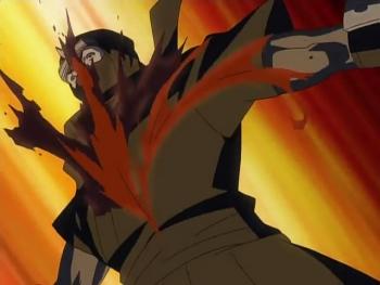В сериале так же присутствует много сцен насилия и крови
