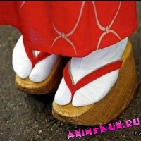 Японская традиционная обувь.