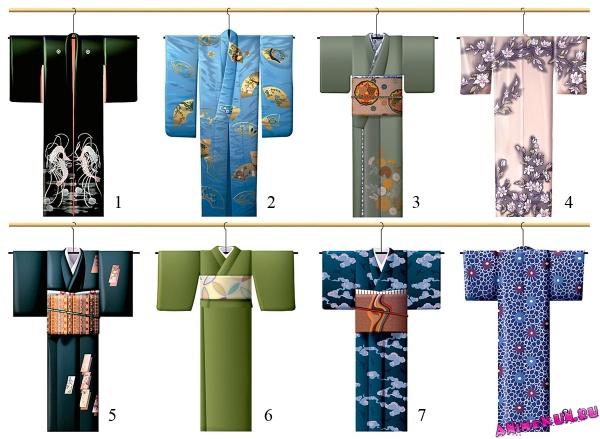 Виды кимоно