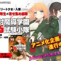 Аниме-адаптация серии ранобэ Tai-Madō Gakuen 35 Shiken Shōtai