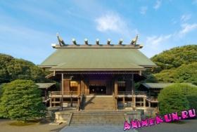 Главное Святилище Ясукуни-дзиндзя - Honden - это место где обидают божества.