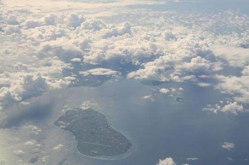 Вид на остров сверху