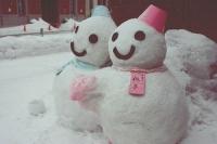 япония,снеговики
