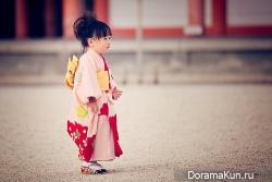 япония, девочка в юката
