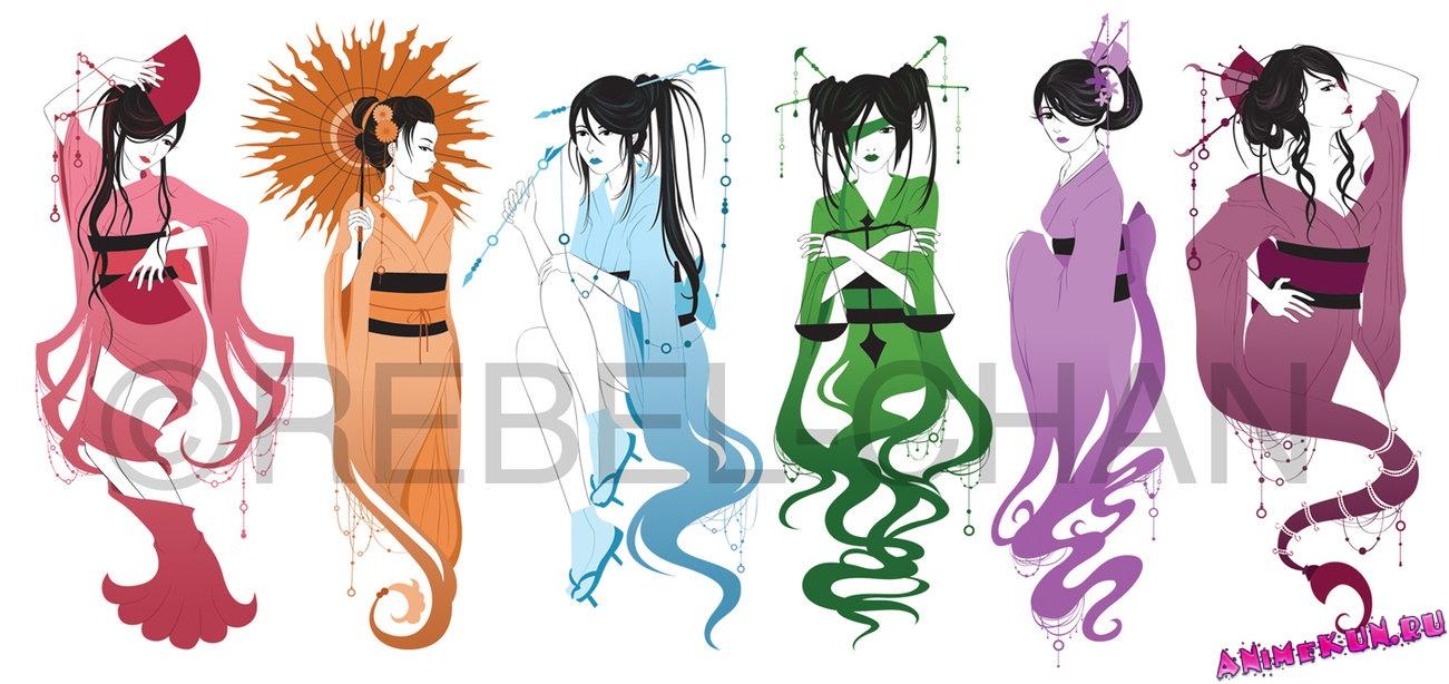 картинки знаки зодиака аниме: