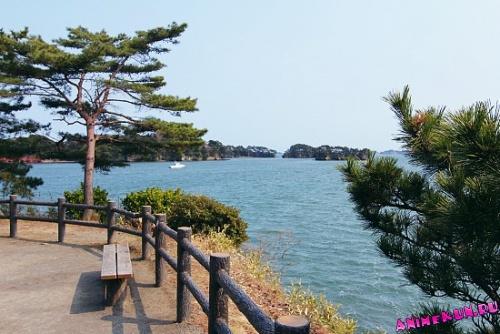 залив Мацусима в префектуре Мияги