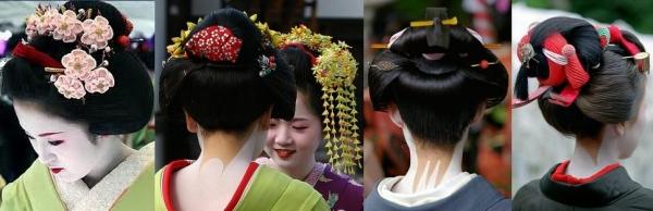 Национальные,японские прически
