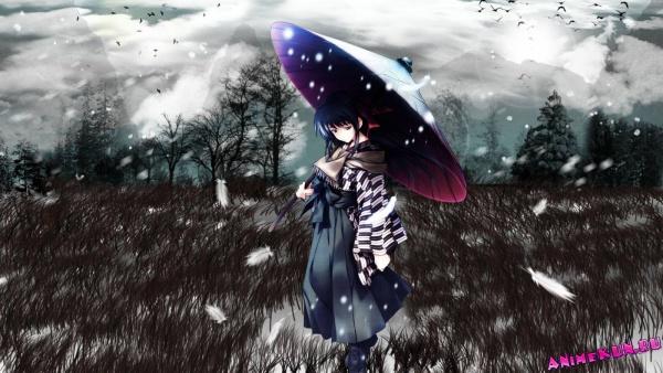 G95: Девушки с зонтиками - Обои TITLE