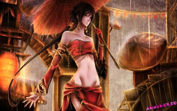 G95: Девушки с зонтиками - Обои