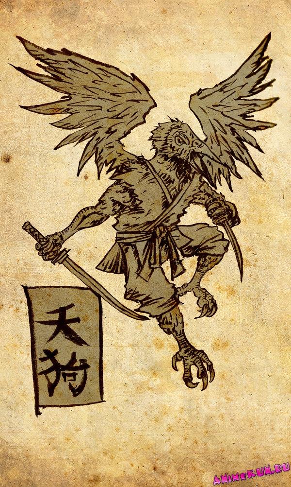 "Конкурс ""Мифические существа"". - Страница 5 Tengu-7-600"