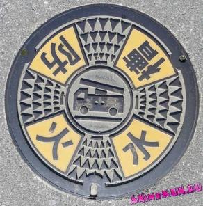 Расписные японские люки.