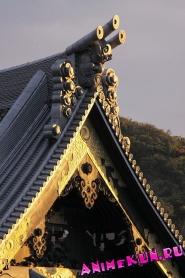 Детали традиционных японских крыш.