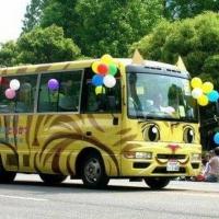 Школьные автобусы в Японии.
