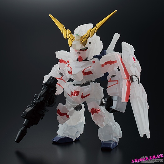 FW Gundam Converge Unicorn Gundam Destroy Mode Theater-Limited Pearl Clear